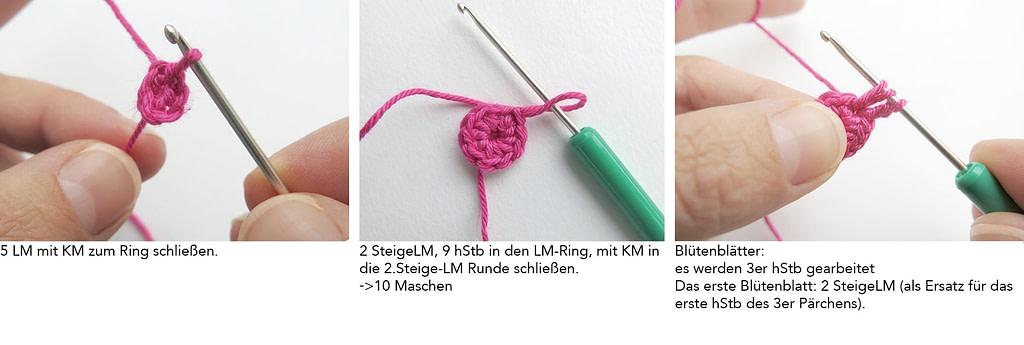 """Häkelanleitung für Ring """"Anemone"""""""