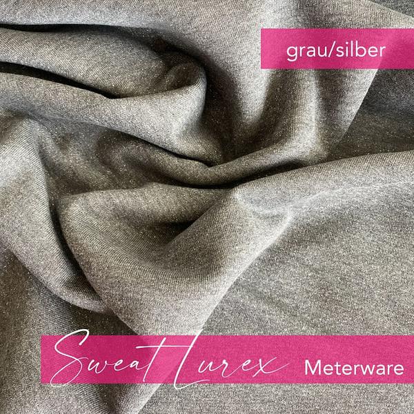 LUREX Sweat grau - Meterware