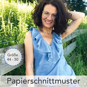 Rüschenbluse Tilly Gr. 44-50 - Papierschnittmuster