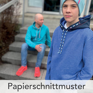 hoodie for two kids Papierschnittmuster