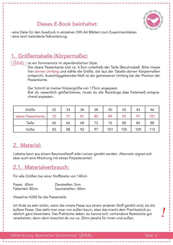 Trachtenrock Lisbetta in Gr. 32-46